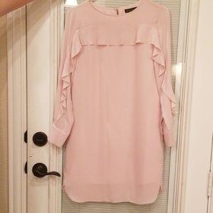 Banana republic pink ruffle dress